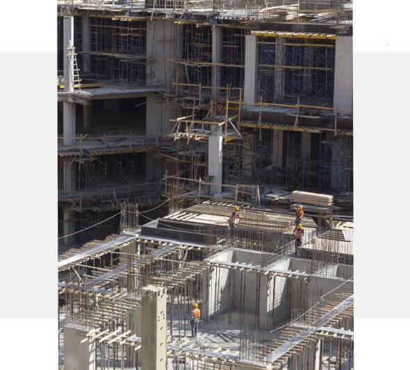 Stavba developerského projektu